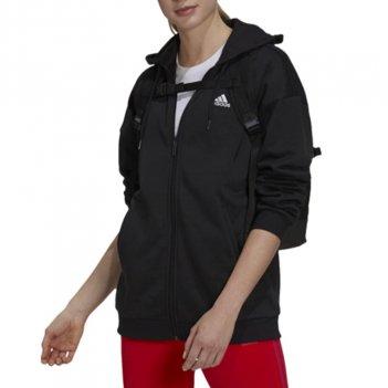 Felpa con cappuccio e zip Essentials con logo piccolo Donna ADIDAS GR9606