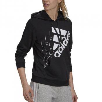 Felpa con cappuccio rilassata con logo inclinato Brand Love Donna ADIDAS GS1360