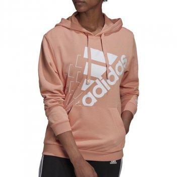 Felpa con cappuccio rilassata con logo inclinato Brand Love Donna ADIDAS GS1373