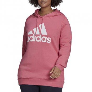 Felpa con cappuccio pile con logo Essentials (taglia Plus) Donna ADIDAS H42013