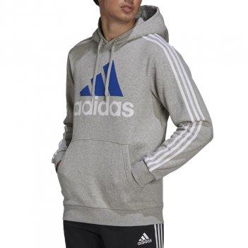 Felpa con cappuccio Essentials Fleece con logo a 3 strisce Uomo ADIDAS GV5249