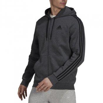Felpa con cappuccio Essentials Fleece 3-Stripes Full-Zip Uomo ADIDAS HB0042