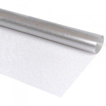 Tessuto Glitter Trasparente Argento Altezza 140cm PVC
